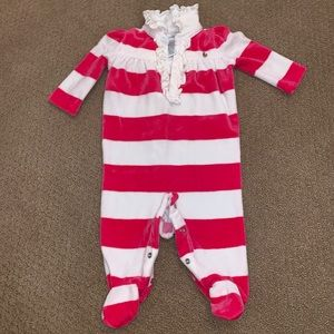 Ralph Lauren baby girl footed one piece outfit